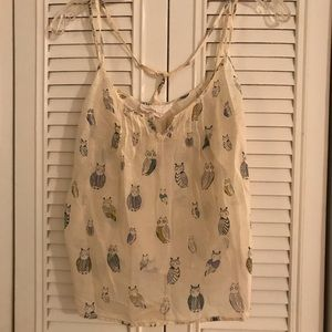 Anthropologie Tops - Lilka Owl Print Tank Top